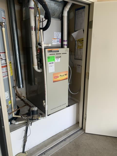 Sunbury, OH - I completed the scheduled maintenance agreement heating tune up on a Bryant gas furnace.  I visually inspected the unit.  Checked voltages, amps and pressures.  Completed combustion analysis.  Cycled and monitored system.  Operating normally at this time.
