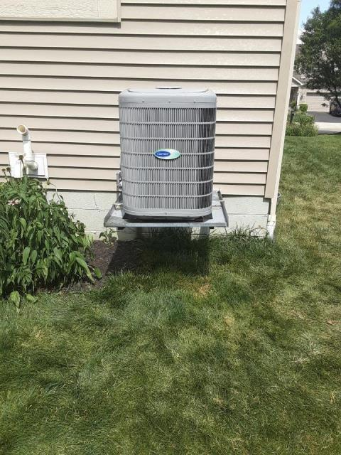 """Westerville, OH - I arrived on site to perform an installation inspection of a Carrier """"Infinity Series"""" 19 SEER Variable-Speed 2 Ton Air Conditioner that we installed. The installation inspection was successful and the unit was running on full functionality at the time of departure."""