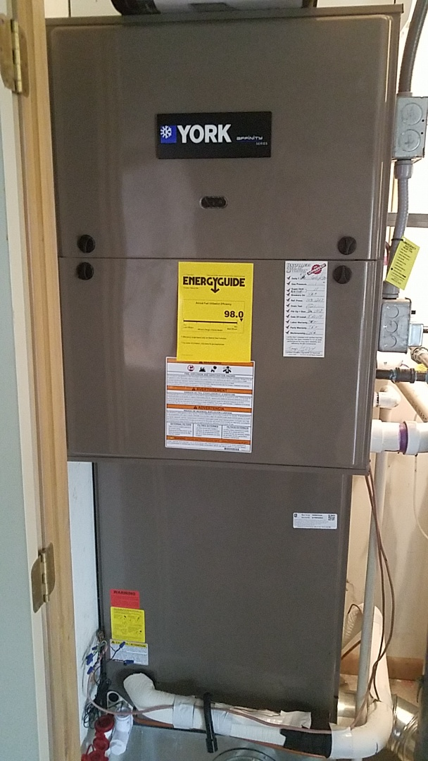 Installed new YORK furnace and air conditioning with new gasoline
