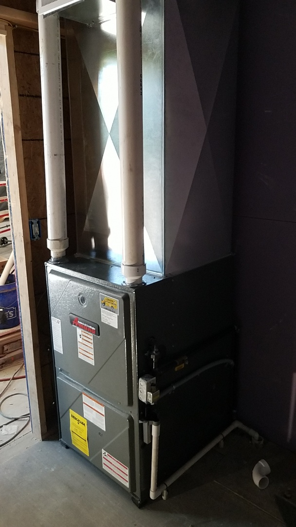Installed amana furnace and duct work