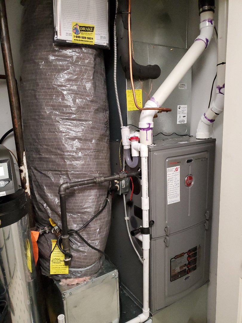 Miamisburg, OH - Installed new rheem gas furnace and air conditioner and tankless water heater