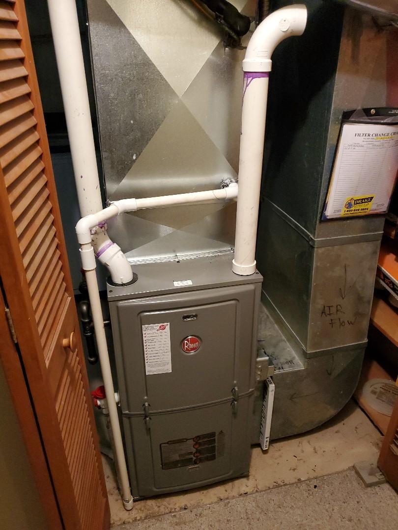 Dayton, OH - Installed new rheem gas furnace