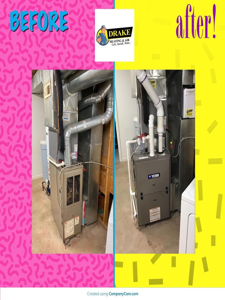 Installed gas furnace