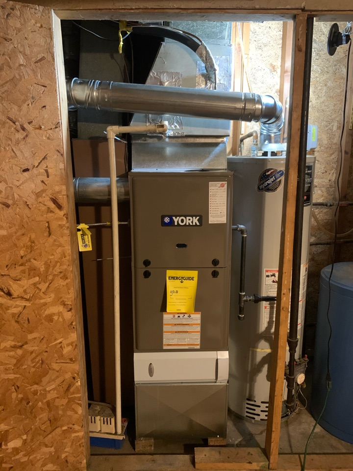 INSTALLED NEW YORK FURNACE AND DID COMPLETE DUCT CLEANING