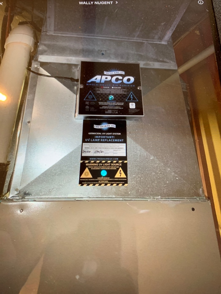Install UV light and safety switch