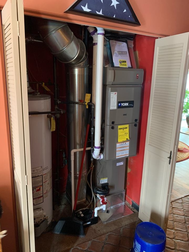 Service on York Gas furnace