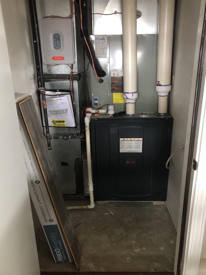 Trane gas furnace check