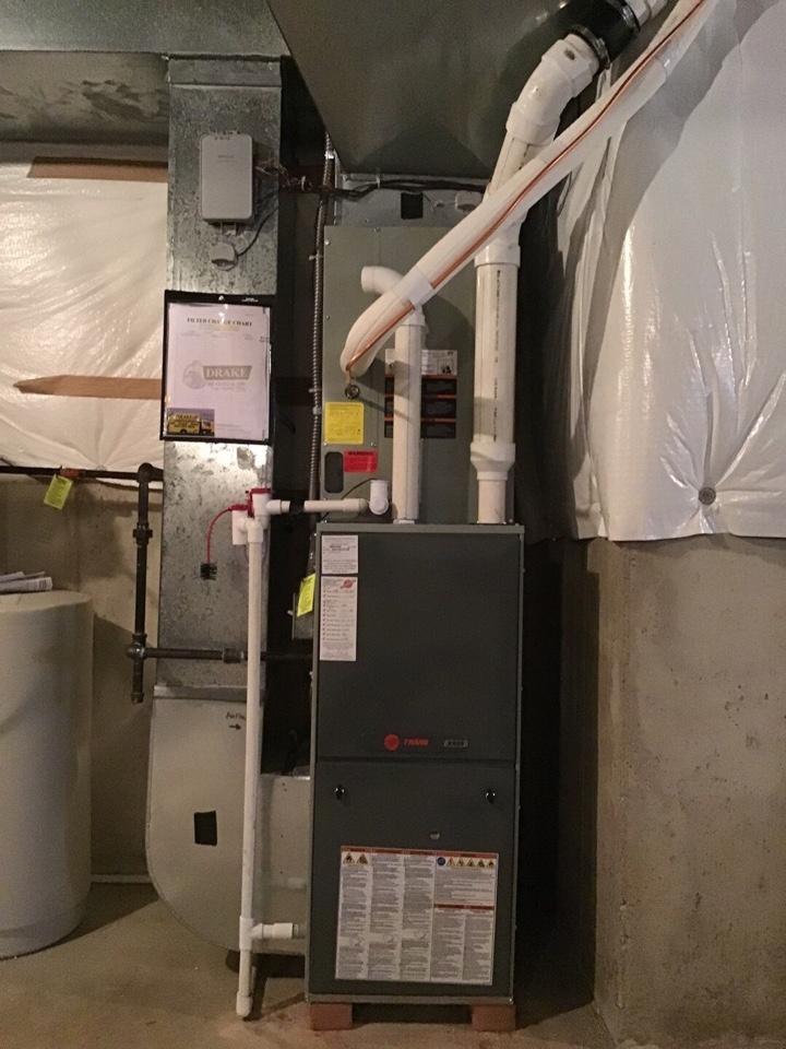 Farmersville, OH - Trane gas furnace tuneup.
