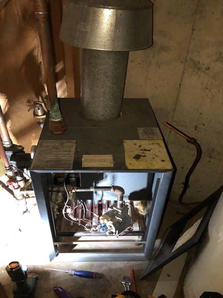 Farmersville, OH - Weil McLain gas boiler repair.