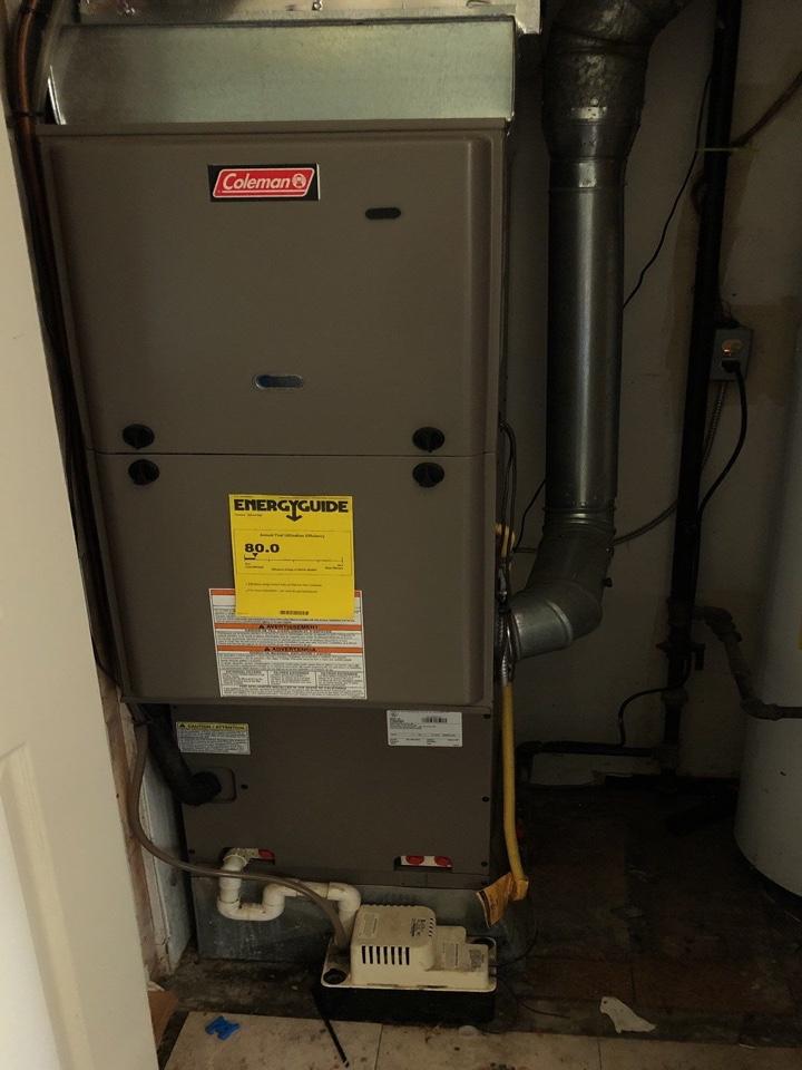 Coleman gas furnace repairs.