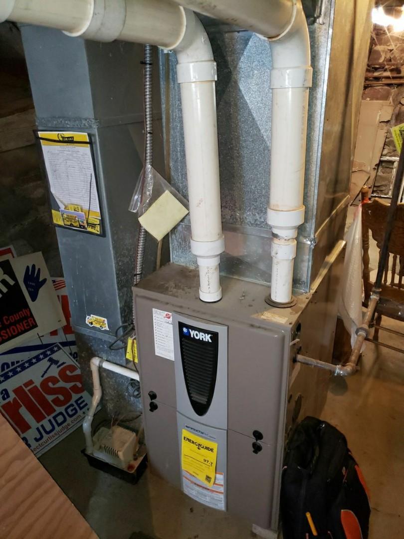 Maintenance on york natural gas furnace