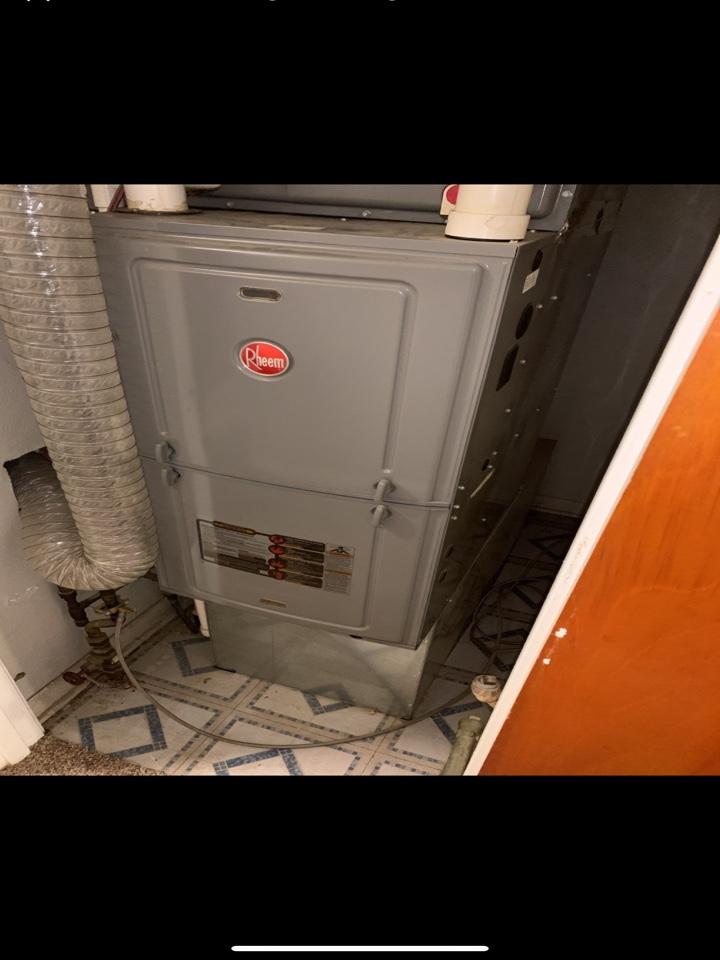 Tune up on Rheem furnace.