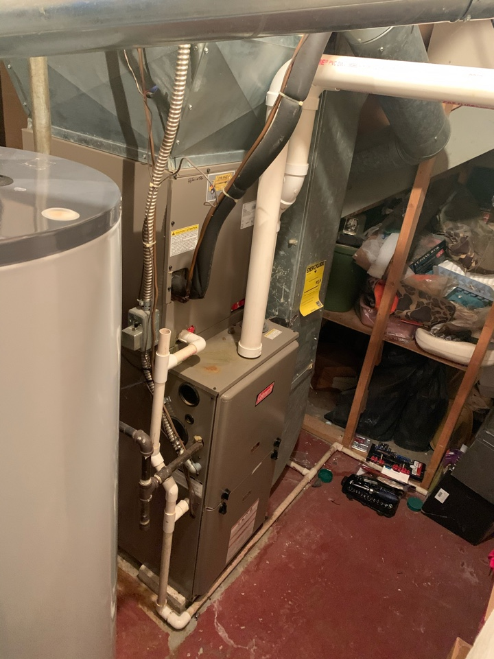 Service on Coleman Gas Furnace