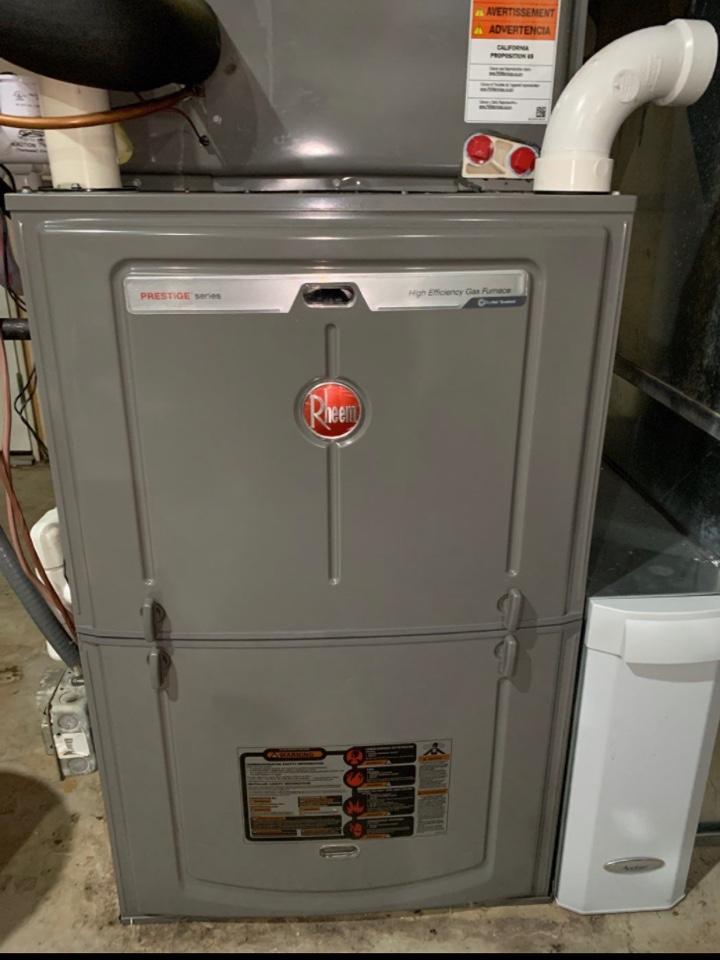 Eaton, OH - Maintenance/Service on Rheem Gas Furnace