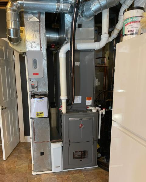 Install new Gas Furnace and Heat Pump