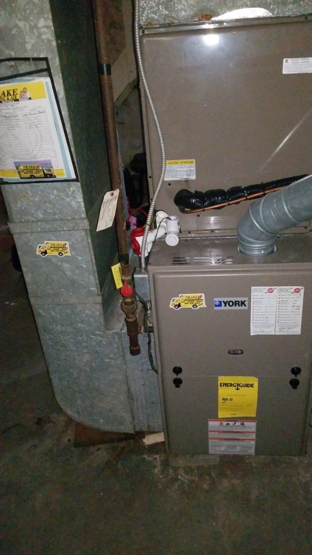 Tune up and service on York Gas furnace with UV install