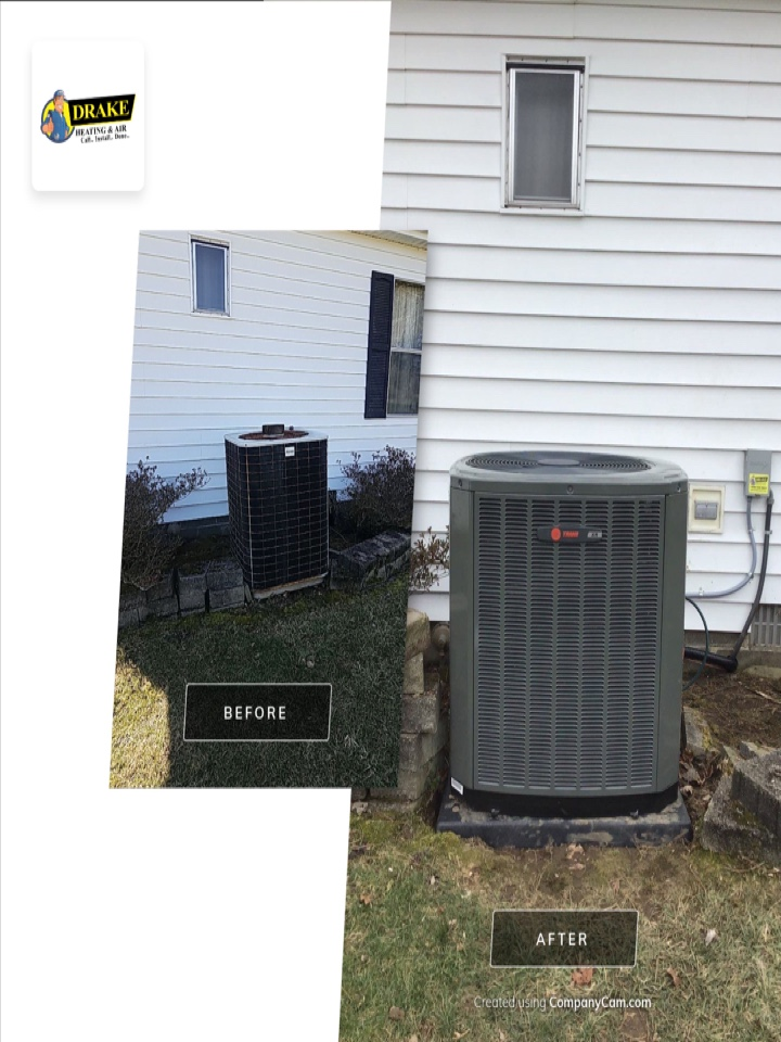 Replaced furnace and air