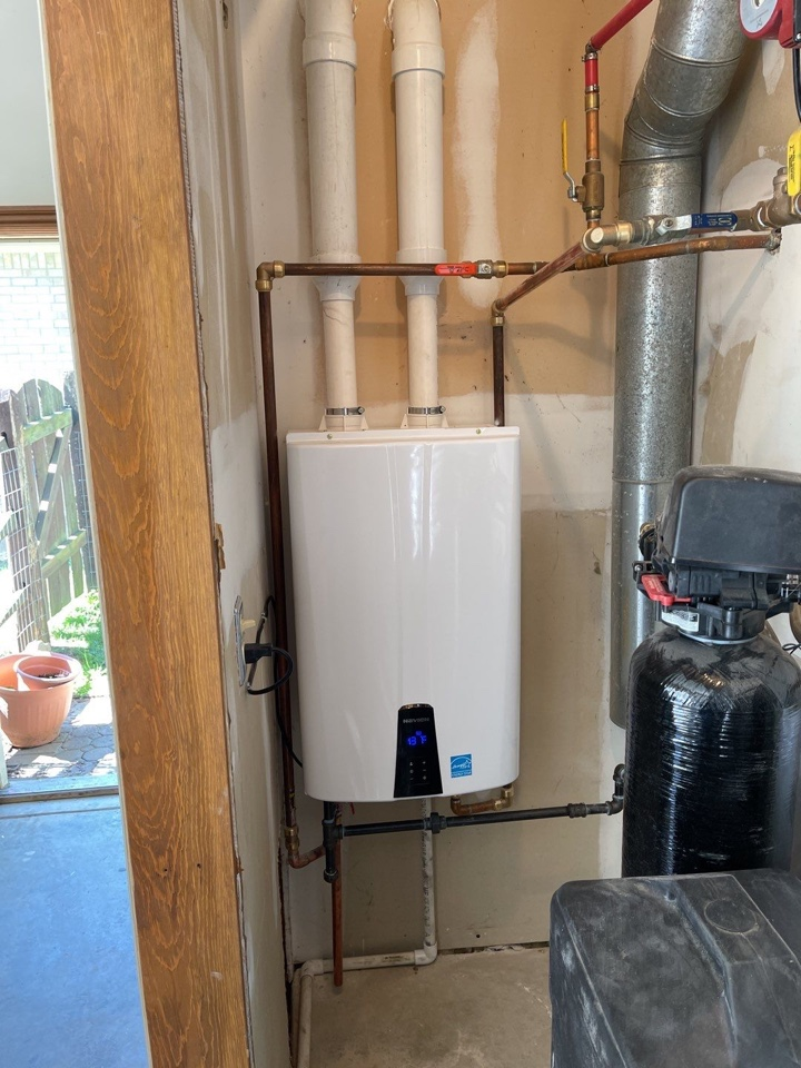 Replaced tankless hot water heater
