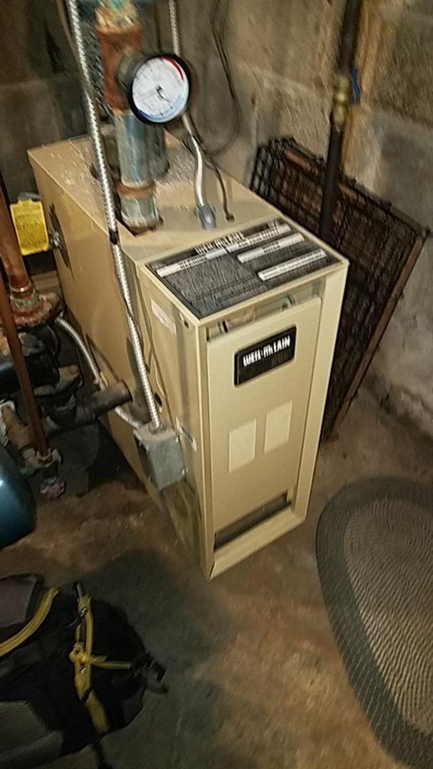 Service call on weilmclain boiler