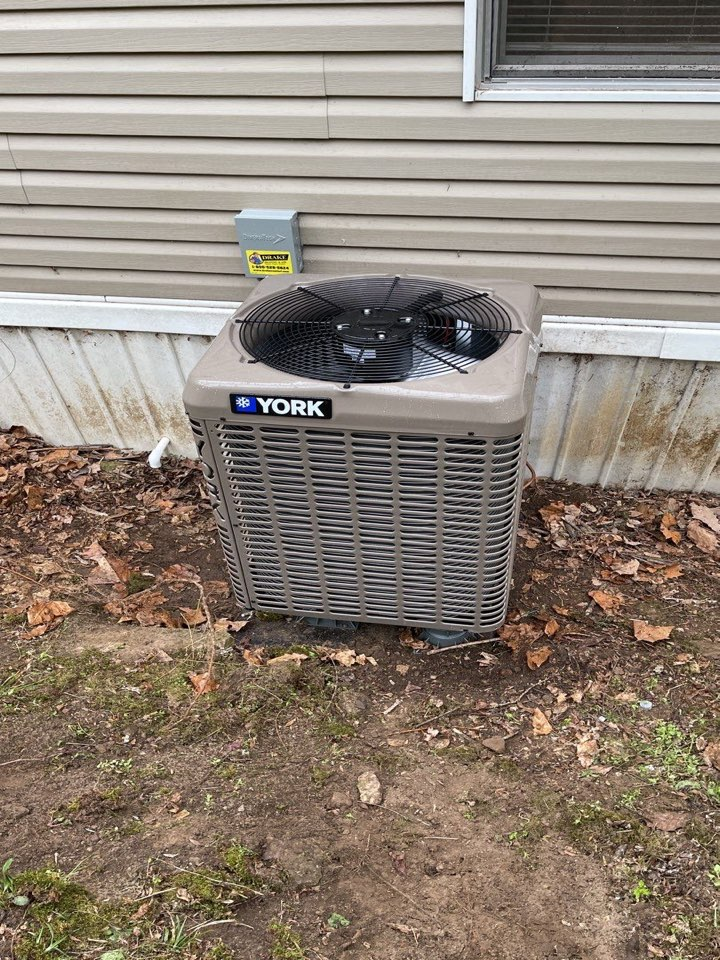 Replaced ac with duct cleaning
