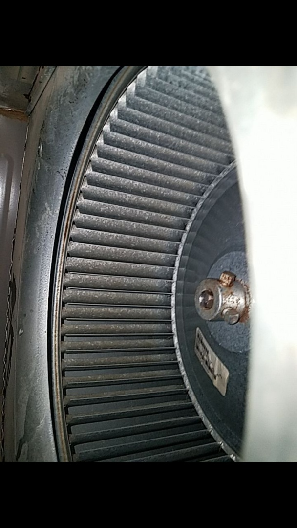 Eaton, OH - Cleaning blower wheel on york gas furnace
