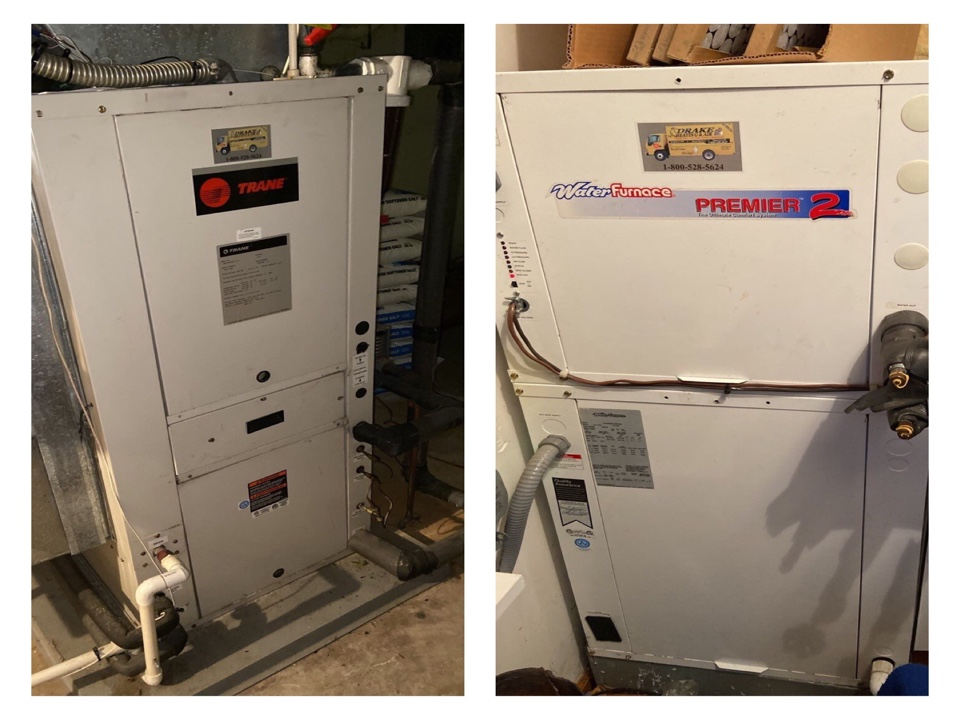Trane and water furnace geothermal heating FOY
