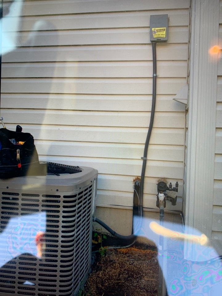 Replace whip kit connection for A/C