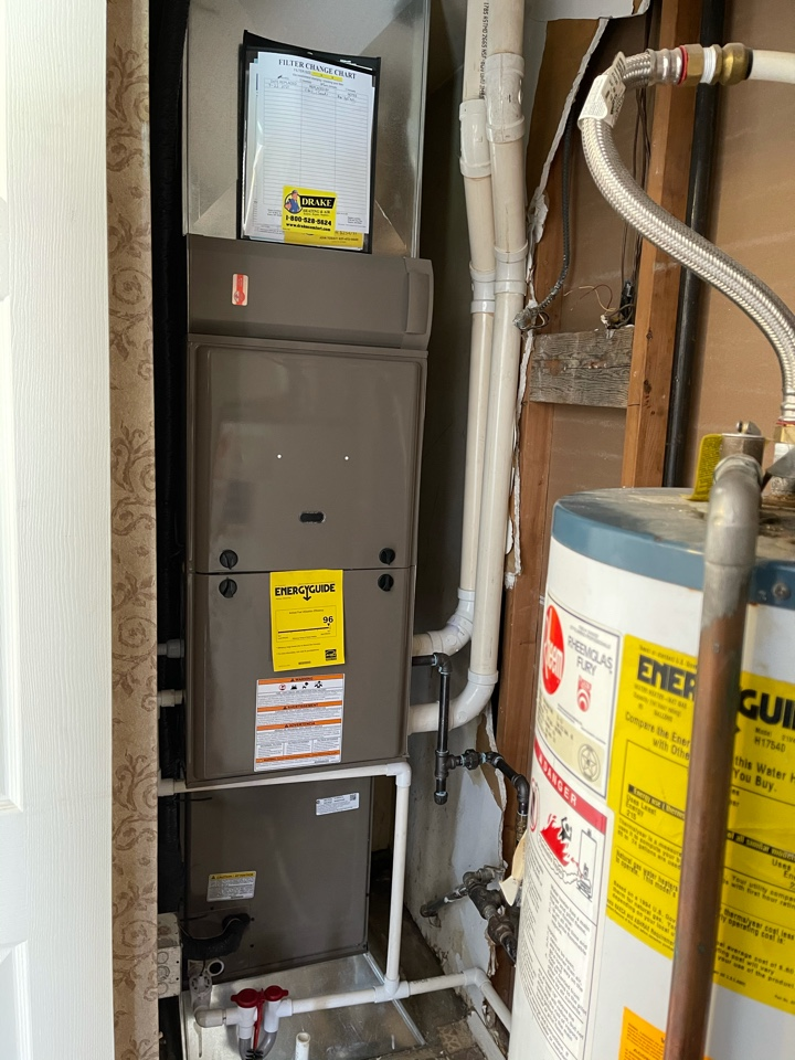 Installed new high efficiency gas furnace and air conditioning