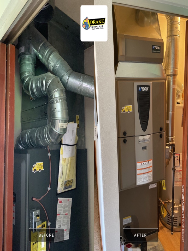 Eaton, OH - Replaced furnace and air