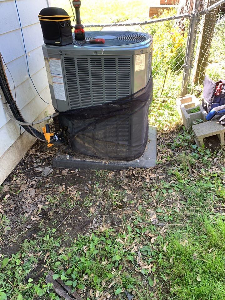 Performed Fountain of youth service on trane AC unit.