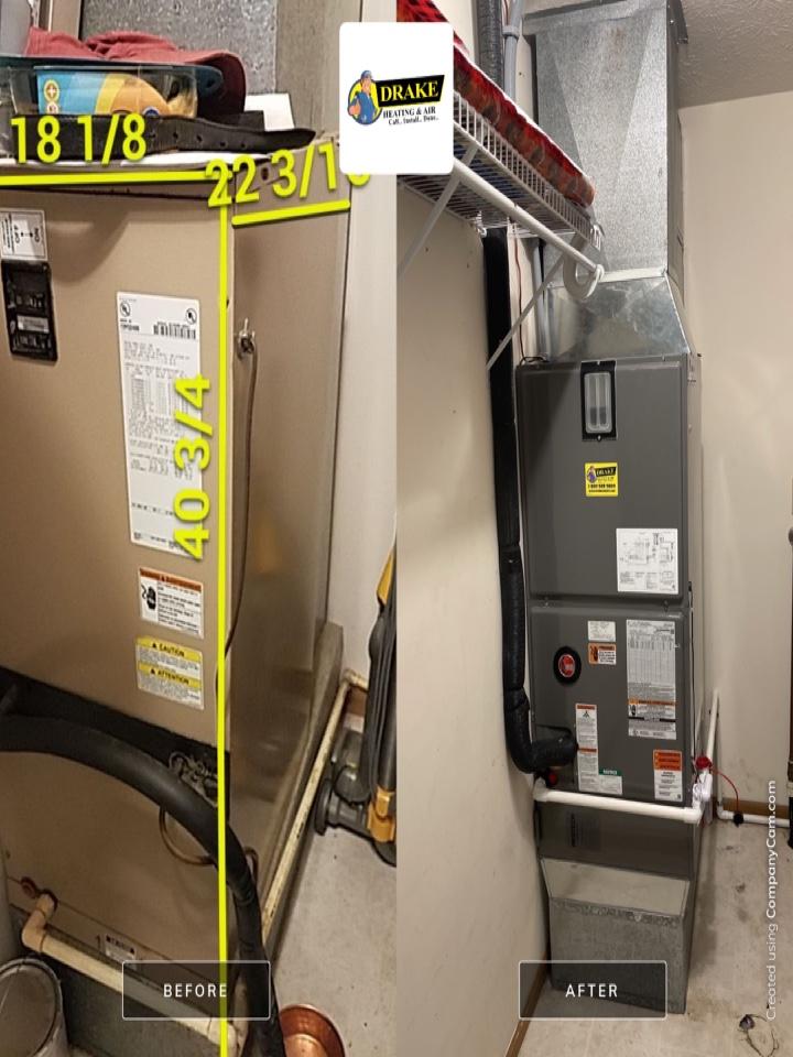 Replaced airhandler heat pump