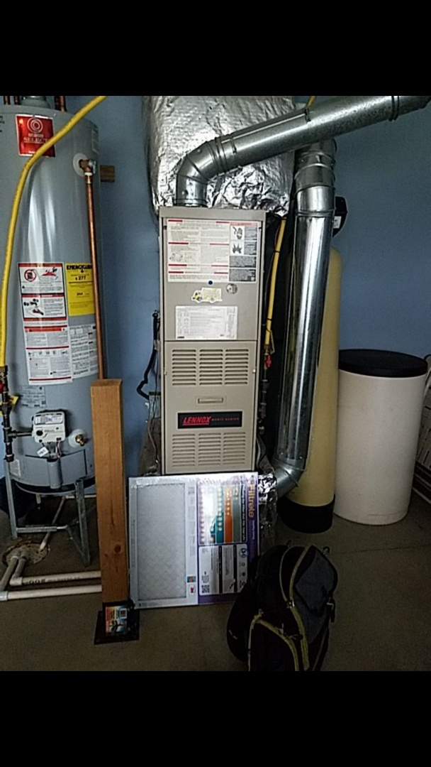 Gas furnace tune up on lennox and ac tune up on york