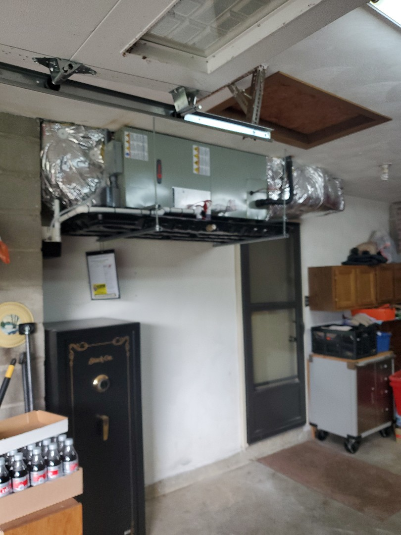 Installed new trane air handler and air conditioning