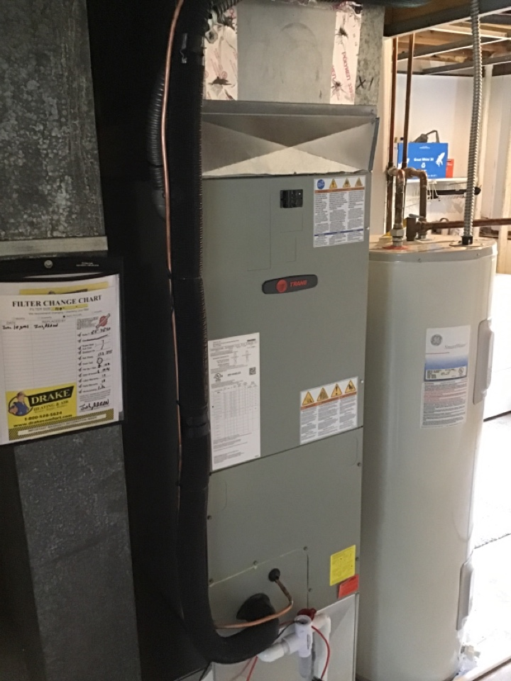 Replaced air handler and heat pump