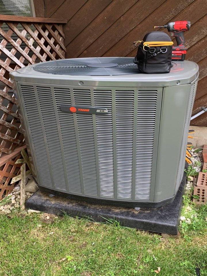 Performed fountain of youth service on trane heatpump Ac side.