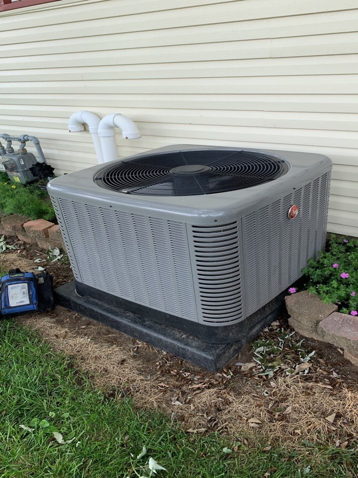 Performed fountain of youth service on Rheem Ac.