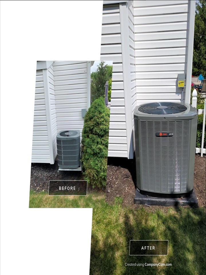 Installed new furnace and air conditioning