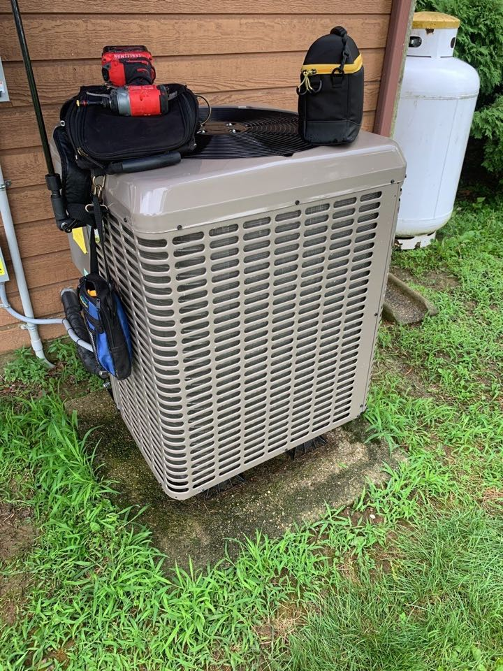 Performed fountain of youth service on York Ac heat pump
