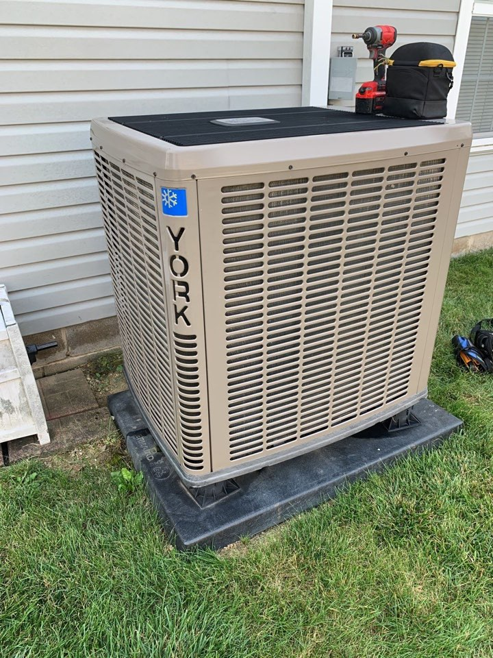 New Lebanon, OH - Performed fountain of youth service on York Ac side of heatpump