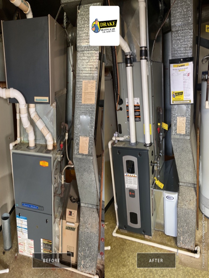 Englewood, OH - Replaced furnace air