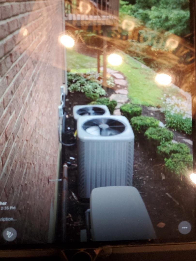 Installed 2 rheem  air conditioner