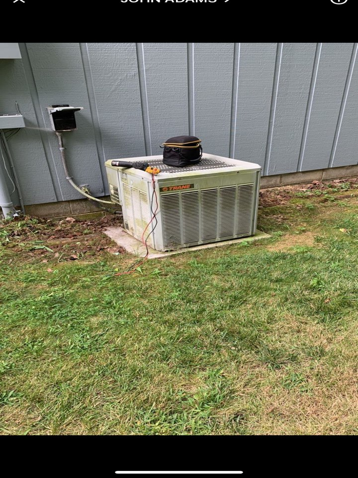 West Alexandria, OH - Tune up on Trane ac and gas furnace