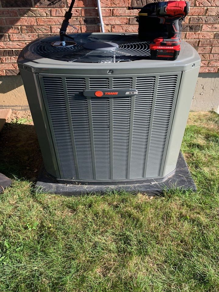 Performed fountain of youth service on trane Ac