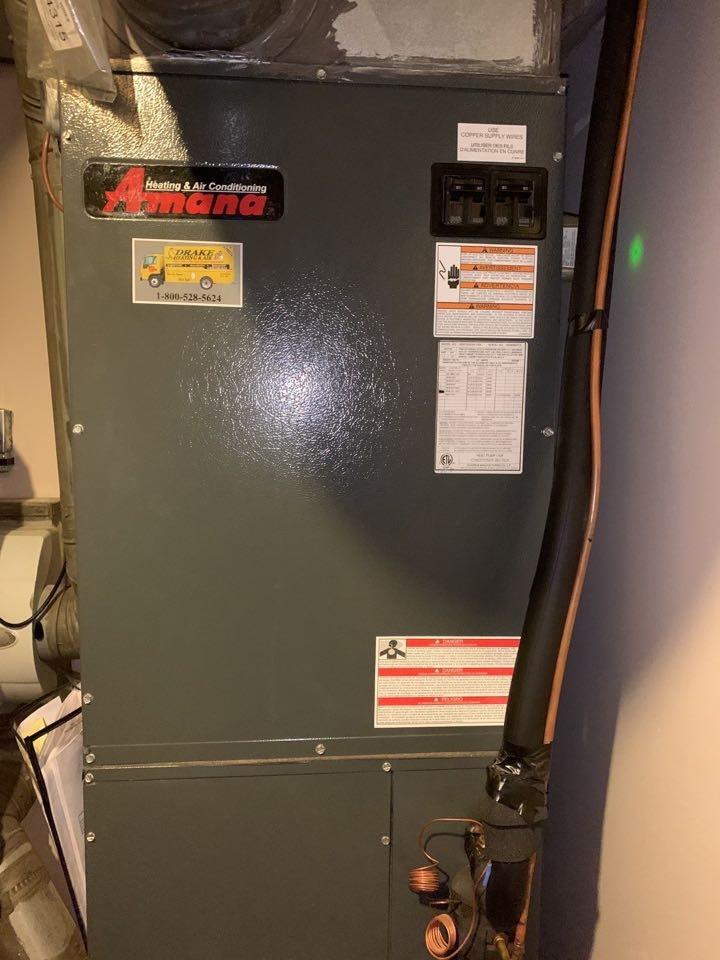 Eaton, OH - Amana heat pump and generac generator fountain of youth.