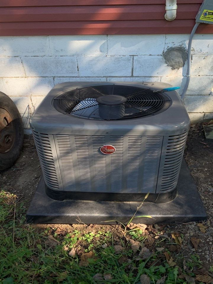 Performed fountain of youth service on Rheem Ac
