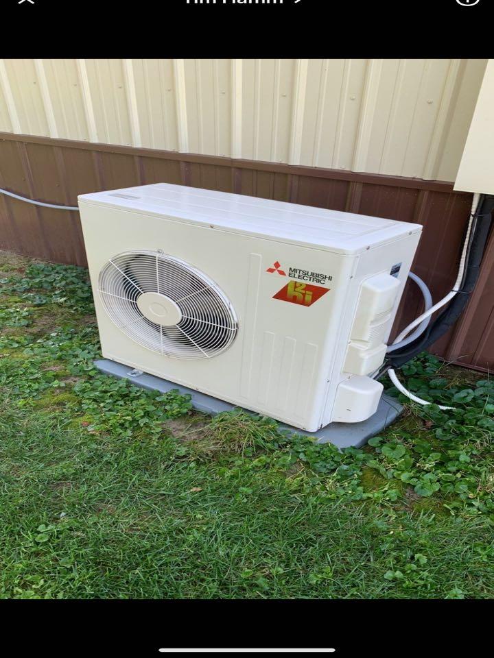Tune ups on Trane 20seer heat pump and Mitsubishi mini split