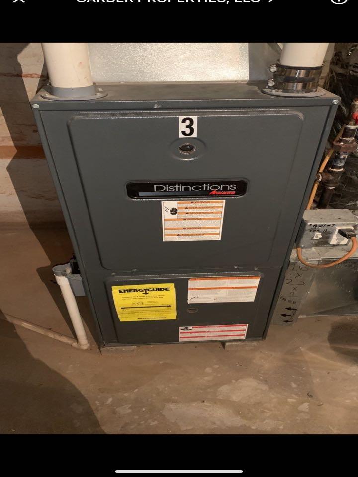 Service call on amana gas furnace
