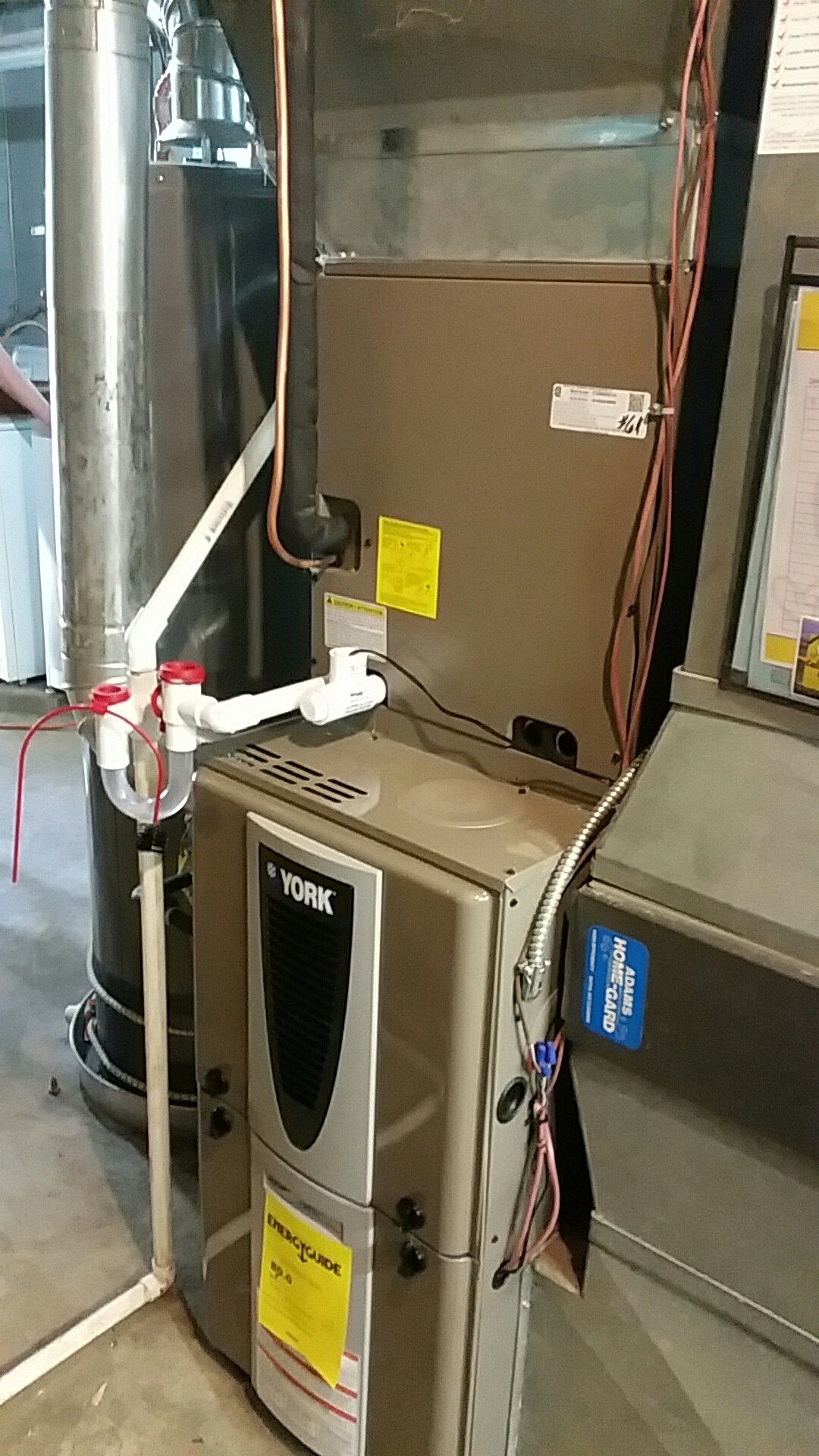West Milton, OH - Installed new York 80 % modulating furnace and air conditioning with humidifiers