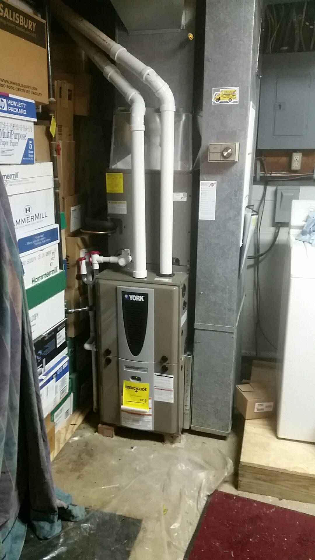 Franklin, OH - Installed new York 97 % modulating furnace and air conditioning