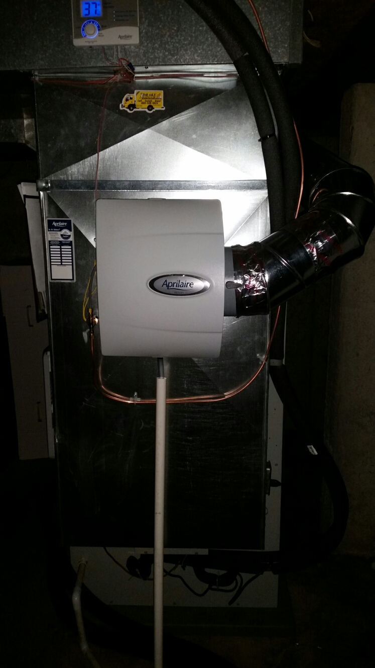 Somerville, OH - Installed new Aprilaire humidifier
